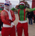 NM Bowl Santa & Grinch